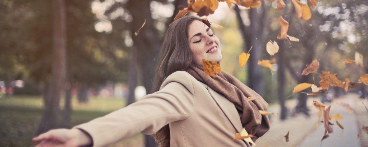 huid in de herfst